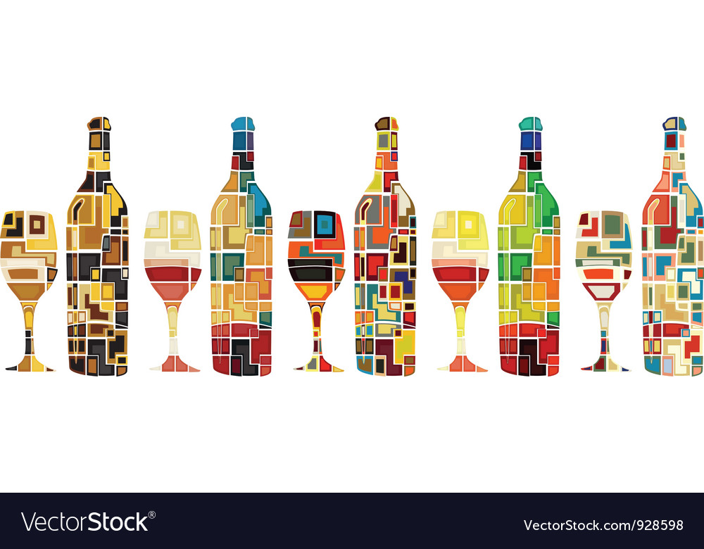 Abstract wine collection vector | Price: 1 Credit (USD $1)