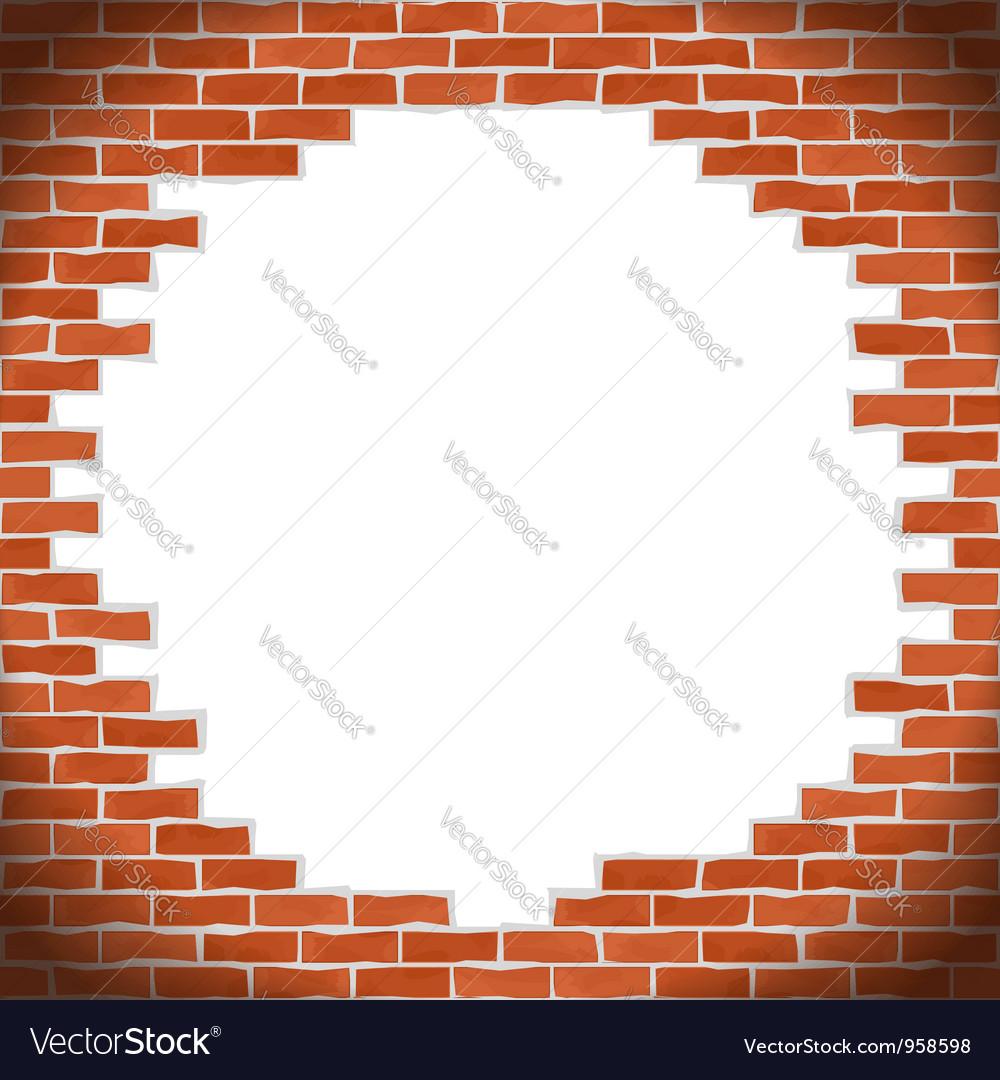 Broken brick wall vector | Price: 1 Credit (USD $1)