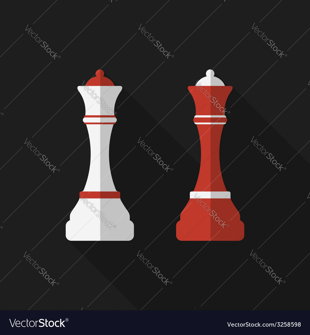Flat chessman with long shadow icon vector | Price: 1 Credit (USD $1)