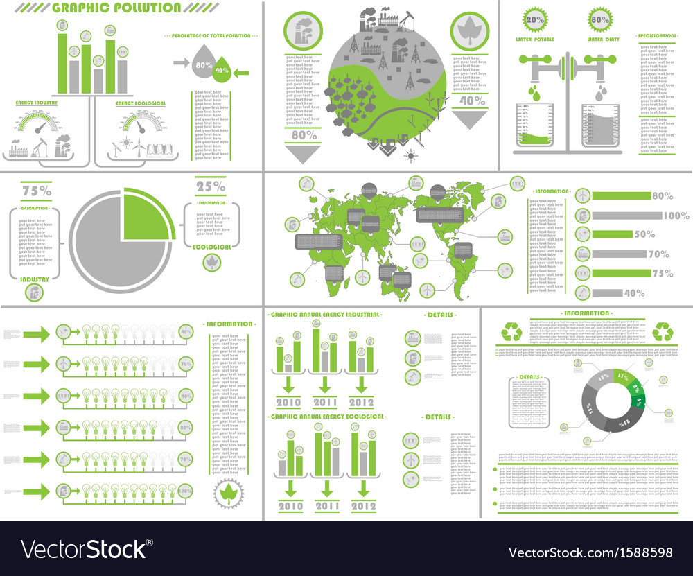 Infographic ecological vector | Price: 1 Credit (USD $1)