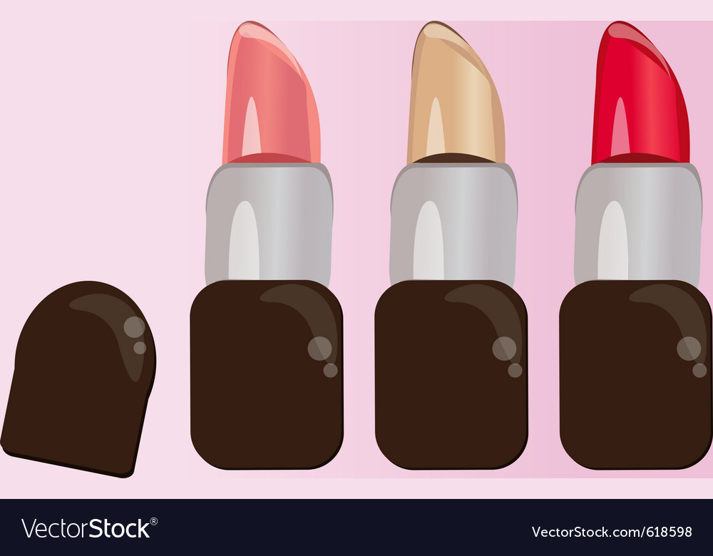 Set of colorful lipstick for makeup vector | Price: 1 Credit (USD $1)