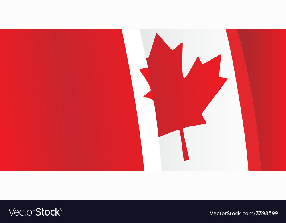 Background with waving canadian flag vector | Price: 1 Credit (USD $1)