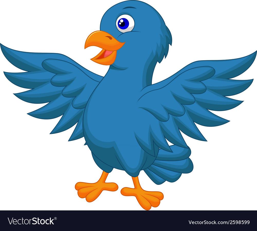 Blue bird cartoon vector   Price: 1 Credit (USD $1)