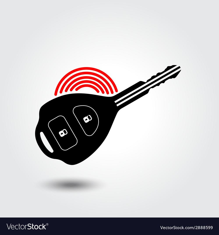 Car remote key symbol vector | Price: 1 Credit (USD $1)