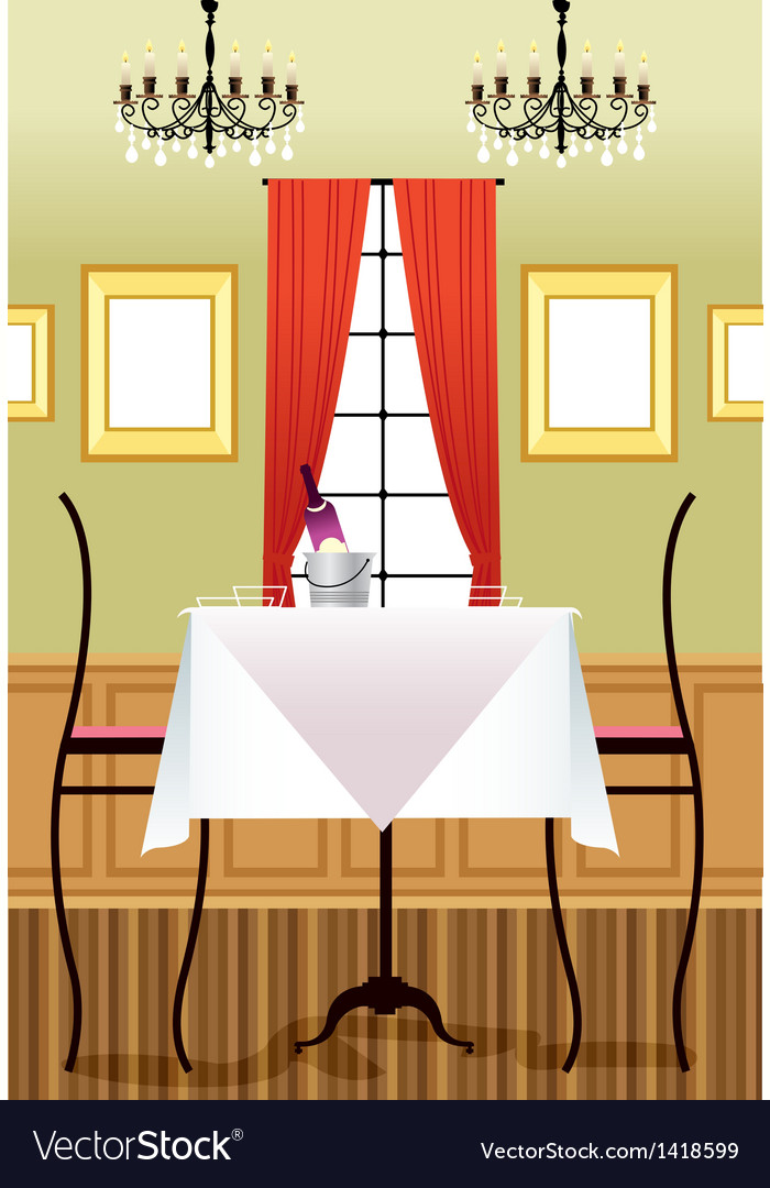 Fancy restaurant background vector | Price: 1 Credit (USD $1)