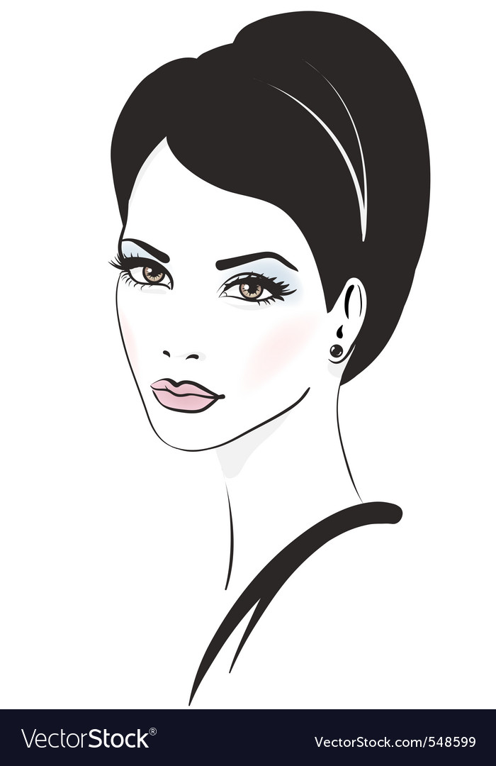 Fashion model illustration vector | Price: 1 Credit (USD $1)