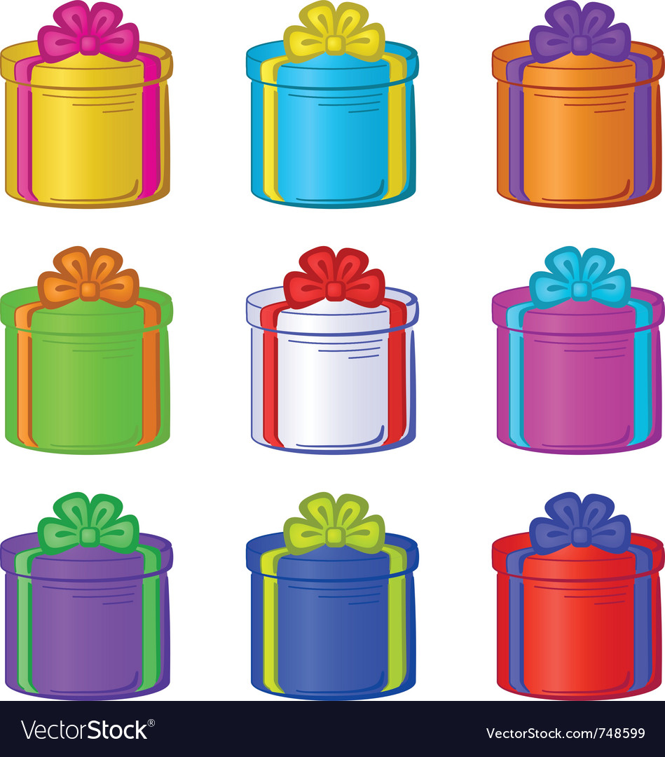 Gift box round vector | Price: 1 Credit (USD $1)