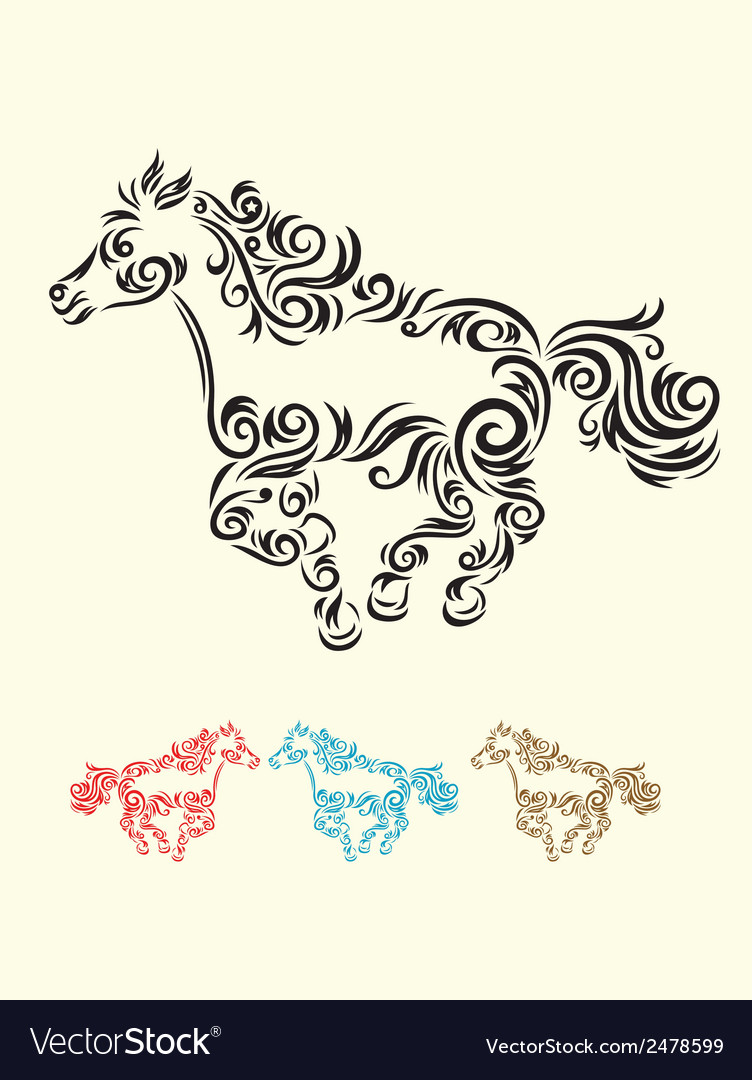 Horse run vector | Price: 1 Credit (USD $1)