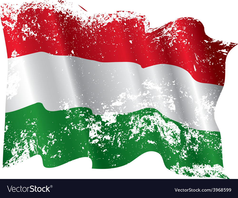 Hungary grunge flag vector | Price: 1 Credit (USD $1)