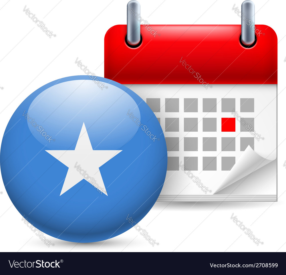 Icon of national day in somalia vector | Price: 1 Credit (USD $1)