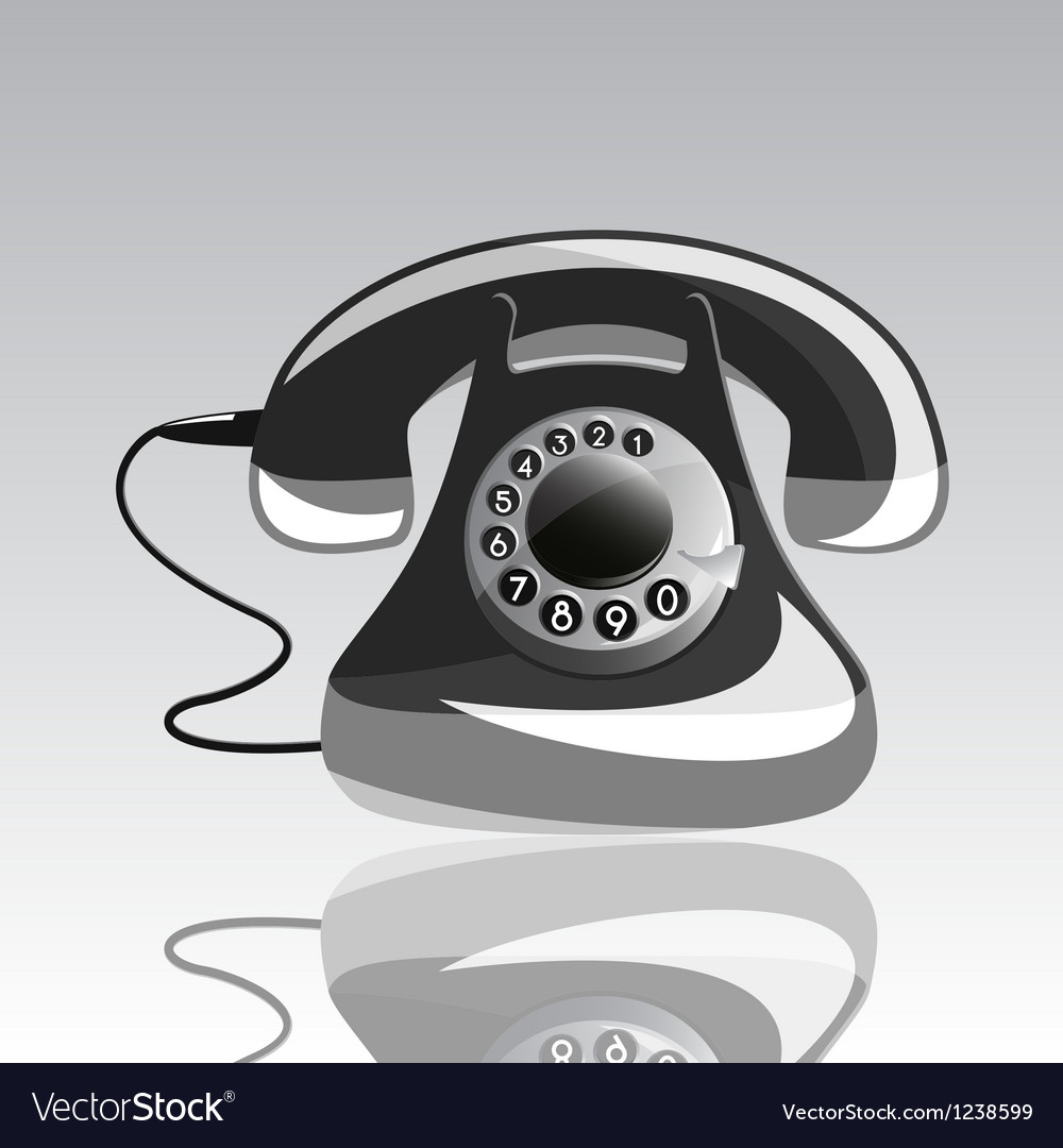 Icon of old phone vector | Price: 1 Credit (USD $1)