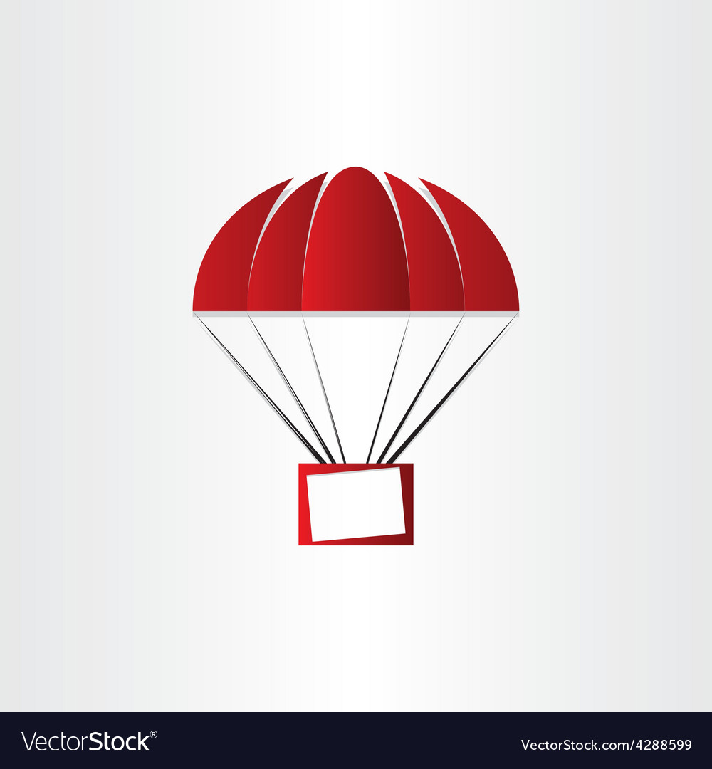Parachute with message box vector | Price: 1 Credit (USD $1)