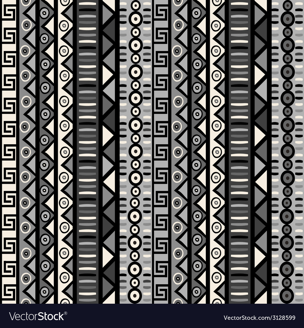 Seamless pattern with tribal ornaments for vector | Price: 1 Credit (USD $1)