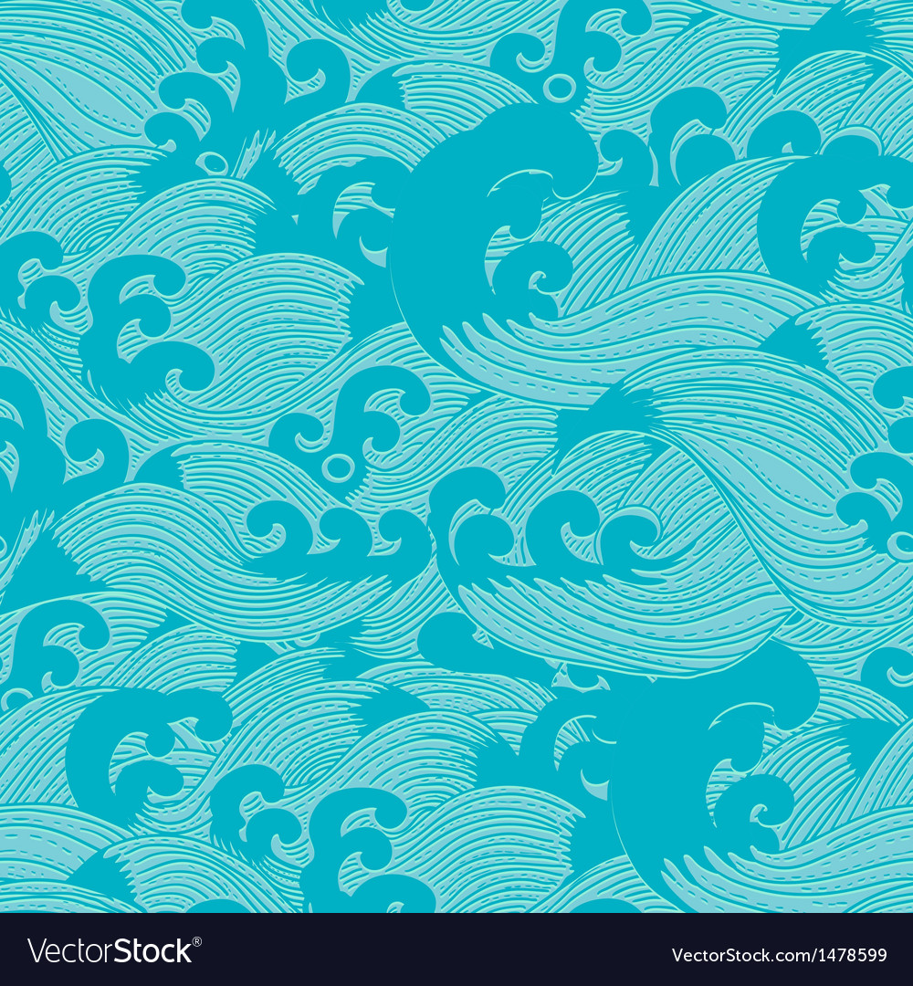 Seamless pattern with waves vector | Price: 1 Credit (USD $1)