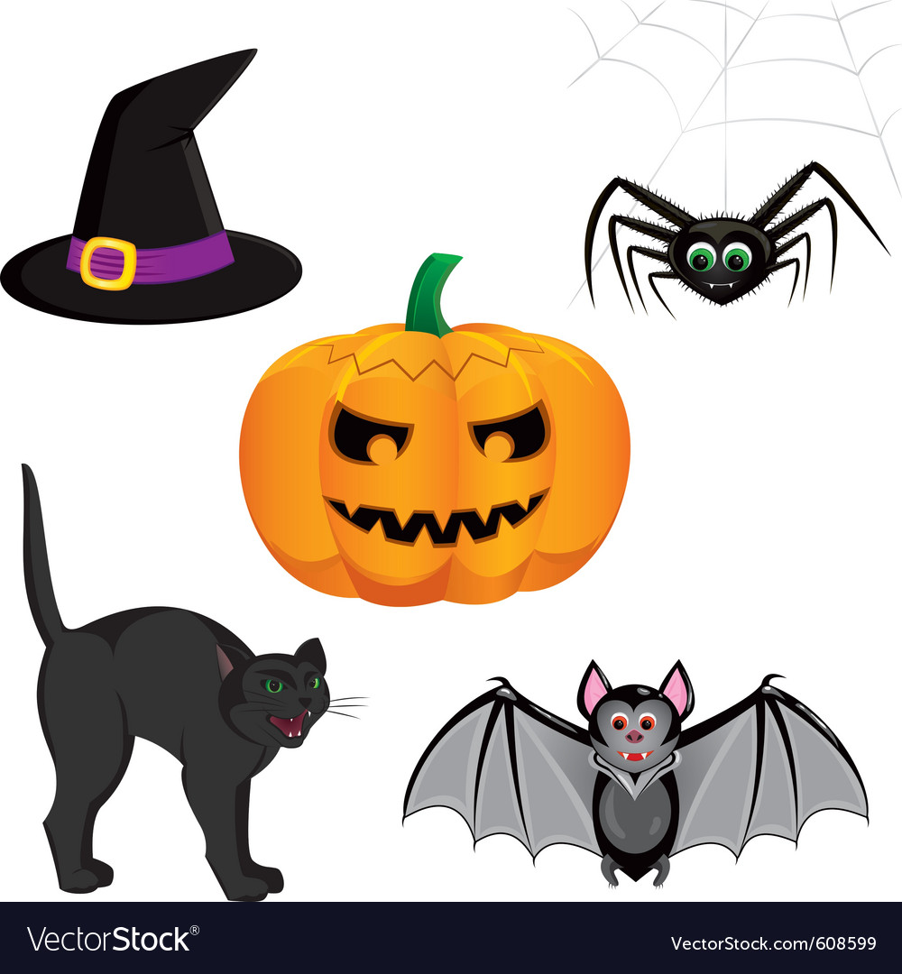 Set for registration cards for halloween consistin vector | Price: 1 Credit (USD $1)