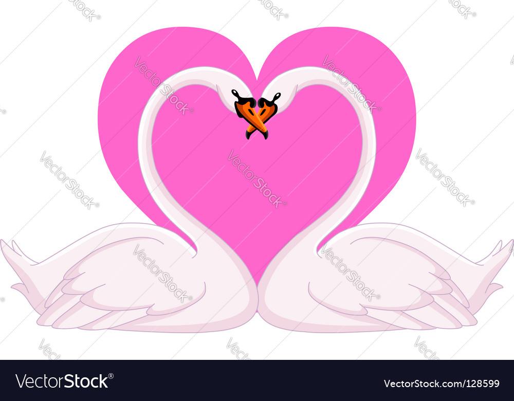 Swans valentine vector   Price: 1 Credit (USD $1)