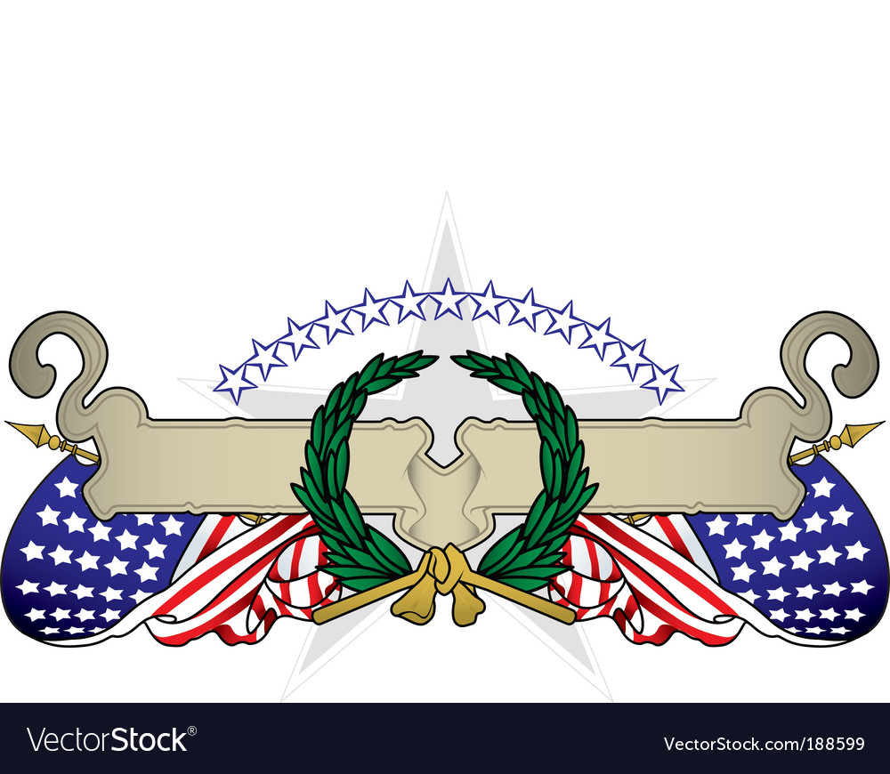 United states banner vector | Price: 1 Credit (USD $1)
