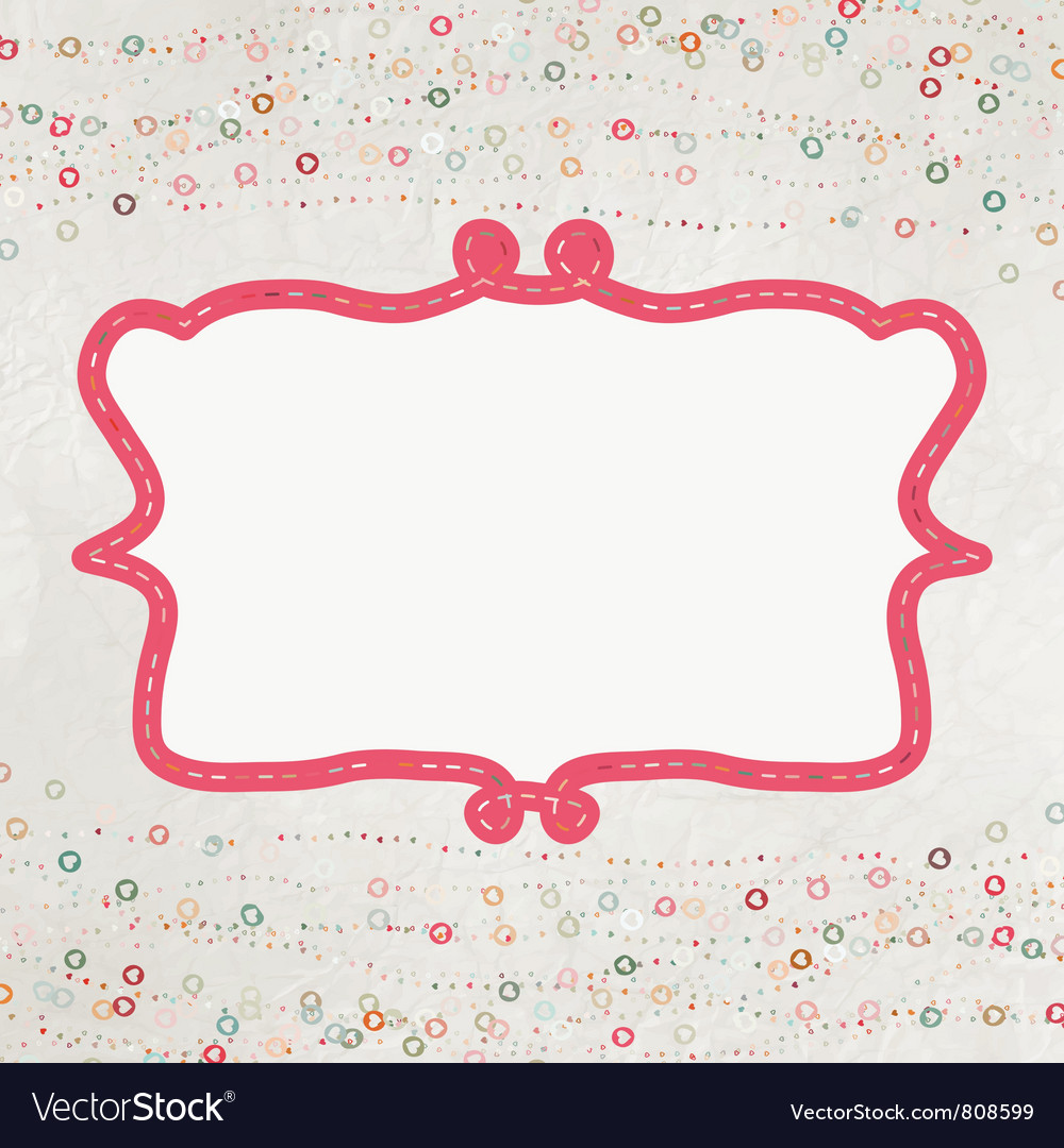 Valentine hearts card vector | Price: 1 Credit (USD $1)