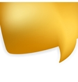 Golden shiny modern speech bubble eps 8 vector