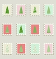 Postage stamps trees vector