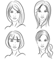 Stylized woman hairstyle vector