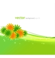 Abstract background with summer flower vector