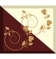 The pattern on the tile - chocolate and vanilla vector