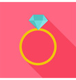 Ring with big diamond vector