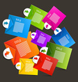 Colorful paper sheets - labels infographics design vector