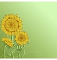 Yellow sunflowers flower element for design vector
