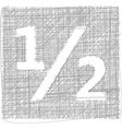 Half sign - freehand symbol vector