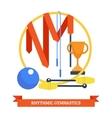 Rhythmics gymnastic concept vector