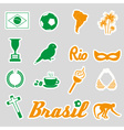 Color brazil stickers and symbols set eps10 vector
