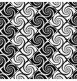 Design seamless monochrome vortex zigzag pattern vector