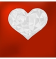 Origami paper heart on red  eps8 vector