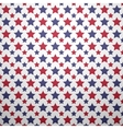 Patriotic red white and blue geometric seamless vector