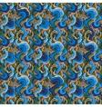Decorative marine hand drawn seamless pattern vector