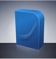 Blank dvd box on background vector