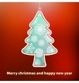 Christmas card with tree  eps8 vector