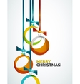 Merry christmas modern card - abstract baubles vector