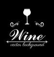 Wine design over black background vector
