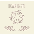 Hand drawn vintage branches and wreathes vector