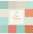 Cute different seamless patterns vector