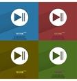 Color set play button web icon flat design vector