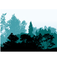 Forest silhouette background vector