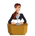 Woman conference portrait vector