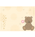 Teddy bear postcard vector