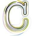 Organic font letter c vector
