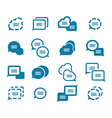 Set of bubbles for speech icons vector