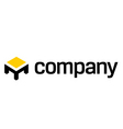 Table logo  furniture company vector